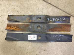 """Kubota 60"""" Mower Deck Set of 3 BRAND NEW Blades 76539-34330"""