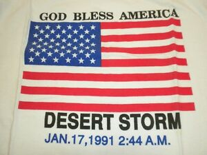 COLLECTOR- NEW-DESERT STORM T-SHIRT.  NEVER WORN OR WASHED.