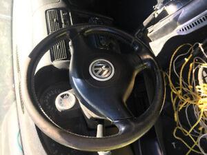 Vw 3 spoked steering wheel