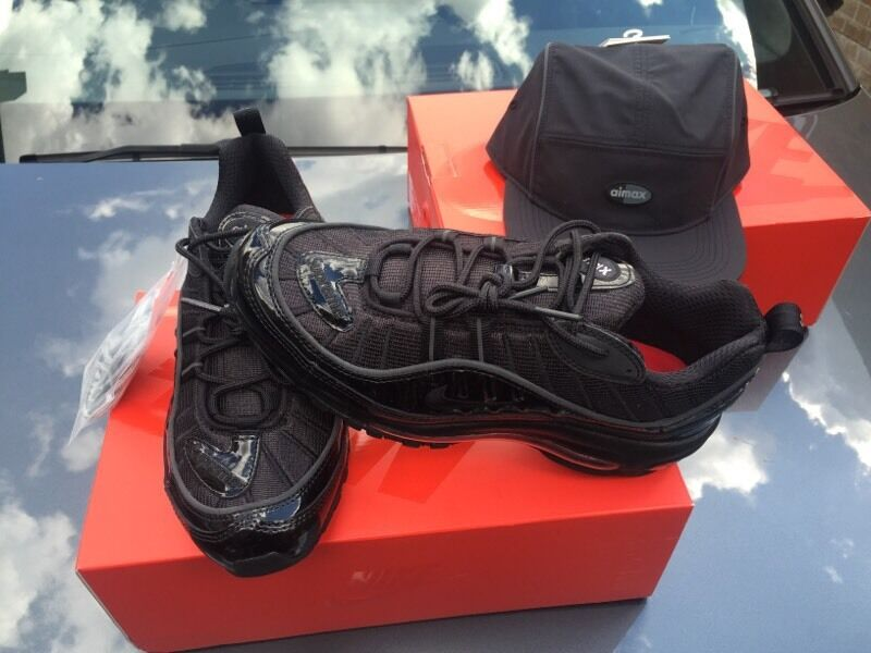 oirmf Nike Air Max 98 Supreme X Rare Size 6 Black | in Shepherds Bush