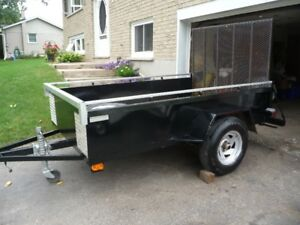 2 TRAILERS BOTH HAVE FOLD DOWN RAMPS GREAT CONDITION