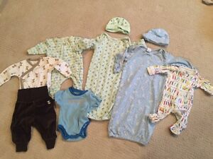 Size 0-3 month boys lot - 9 items