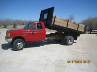 1990 Ford F-350 Pickup Truck 4X4 with box and hoist