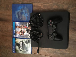 PS4 1tb slim with 3 games
