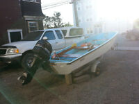 13ft Boston Whaler with trailer and 40hp motor