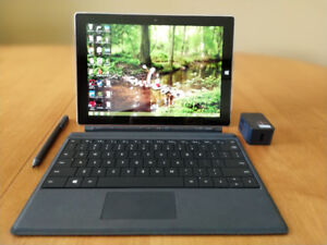 Microsoft Surface 3 with Surface Stylus and Keyboard Cover