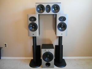 "Athena Speakers and Powered 8"" Subwoofer"