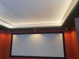 Media lounge led optics effects