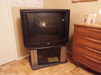 36 INCH JVC TV AND SONY STAND--FREE !!!!!!!