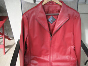 LIKE NEW! Tibor Red Leather Jacket Size Large for $45 OBO