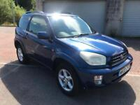 2002 Toyota Rav4 2.0 Petrol 3 Door swb Imperial Blue Metallic