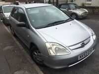 Honda Civic 2003 1.4 5 Door Silver Bargain PX Swap