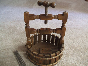 VINTAGE WOODEN Wishing Well NUT CRACKER and BASKET