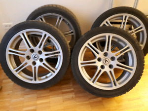 Acura csx mags and winter tires