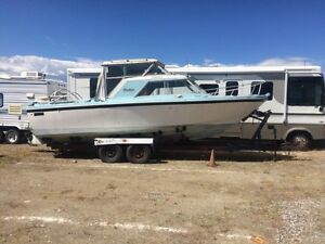 """25"""" boat and 30"""" double axel trailer"""