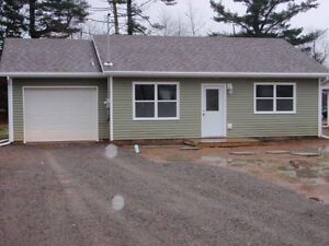 Newer 2 bedroom house with a garage.