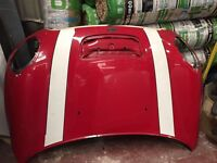 MINI COOPER S 08-12 BONNET IN RED GOOD CONDITION BREAKING 1 3 5 6 7 SERIES BMW