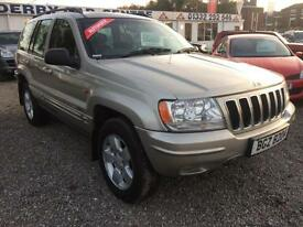 2003 JEEP GRAND CHEROKEE 2.7 CRD 4 x 4 Limited 5dr Auto DIESEL MASSIVE SPEC