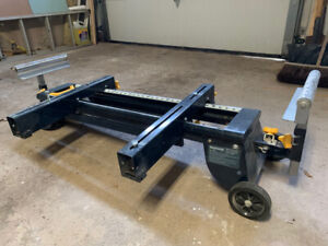 Mastercraft Mitre Saw Stand With Wheels - $100