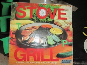 STOVE TOP GRILL (COATED) NEW