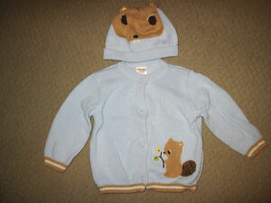 Gymboree Forest Friends Line - Sweater and Hat - 6-12 Months