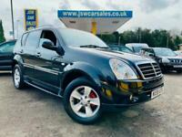2009 Ssangyong Rexton 2.7TD SPR AUTO 4X4 - Low Miles 77K. F/S/History. Leather.