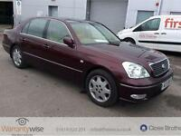LEXUS LS 430, Red, Auto, Petrol, 2002 PLATE WITH CAR FULL MOT WITH CAR