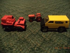 Tonka truck and Tomica Tractor