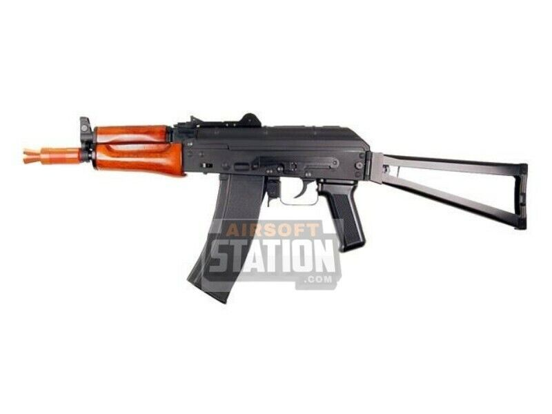 SRC AK74U Krinkov Real Wood Full Metal Gas Blowback Black Airsoft Rifle Toy New