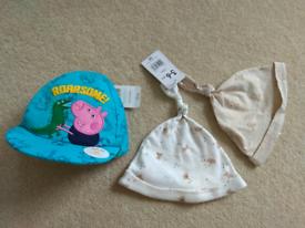 New hats bundle Mothercare 3-6 months