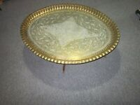 Solid Brass Oval Indian Table