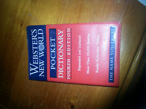 Webster's New World Pocket Dictionary fourth edition