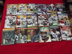 DALLAS COWBOYS NFL PACKAGE DEAL:18 SPORTS ILLUST MAGAZINES