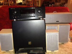 7 piece Surround Sound System - Like new!