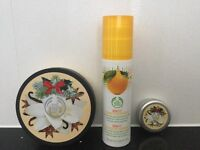 Vanilla Chai 200ml Body Butter & 20ml Lip Butter From Body Shop, Spa Fit Toning Concentrate 200ml