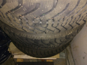 Winter tires with rim! Good condition