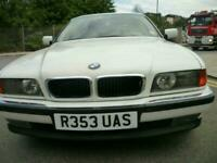 LHD BMW 740 iL AUTO LWB ALPINE WHITE FBMSH BEIGE LEATHER UK REG SUPERB CLASSIC!