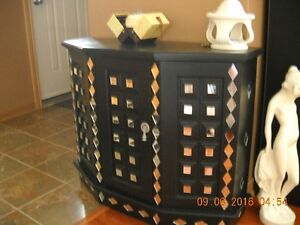 For Sale Black Cabinet with Custom cut Mirrors