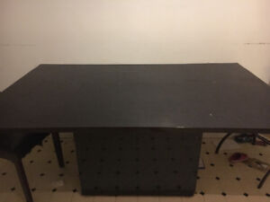 Solid black table