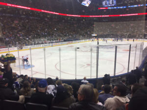 Maple Leafs Golds 9 Rows From Glass! Perfect Christmas Gift!!!