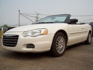 2006 CHRYSLER SEBRING CONVERTIBLE! Only 117000km! Only $2950!