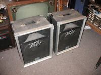Pair Vintage Peavey 112 Stage / Studio Speakers Tested