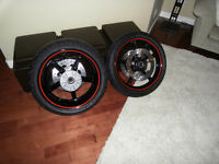 Harley-Davidson Black Reactor Custom wheels