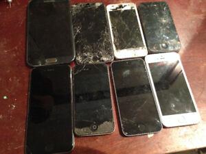 Plusieurs telephones a vendre pour pieces et reparation