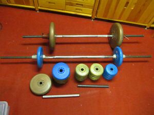 Two sets of Barbells