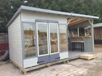 16ft x 8ft man cave, bar, hot tub shelter, summerhouse