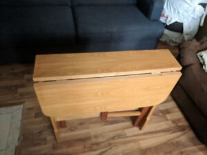 Table with drop leaf - $25