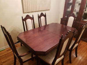 Dining Room Table for $1600 with 6 Chairs- Cherry Wood