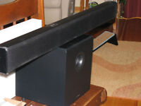 Precision Acoustics sound bar/ subwoofer/new /wireless/reduced