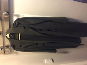 NWOT Army Green Wool Coat -Size 10
